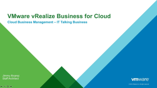 vRealize Business for Cloud Overview and Demo