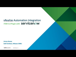 vRealize Automation ServiceNow 5.0 Plugin -…