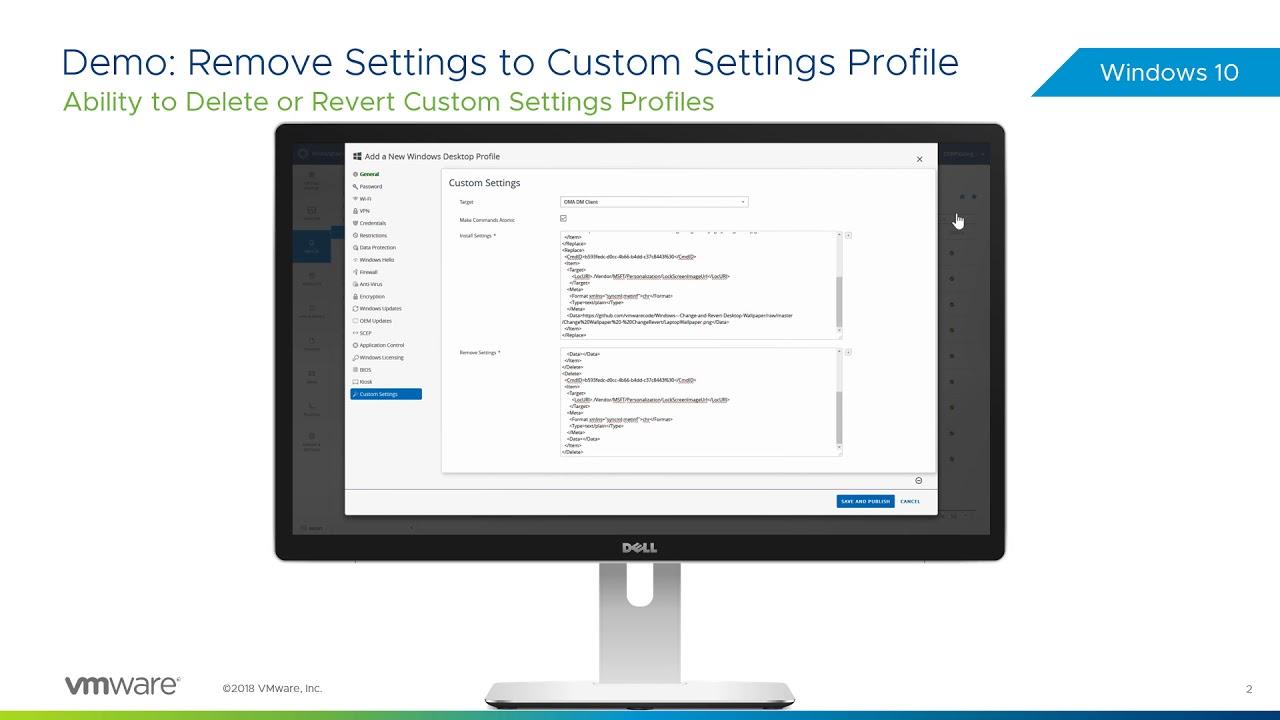 Remove Windows 10 Custom Settings Profiles Feature Walkthrough